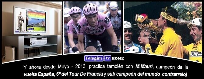 Entrene en tu casa con un ex ciclista profesional Melcior Mauri